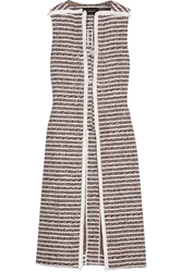 Thakoon Fringed Cotton Blend Tweed Vest