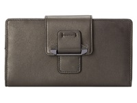 Kooba Jonnie Tab Wallet Gunmetal Wallet Handbags Gray