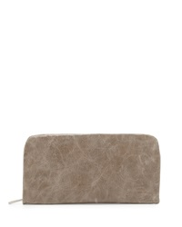 Hobo Eliza Leather Continental Wallet Stone