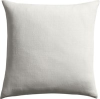 Cb2 Linon White 20 Pillow With Down Alternative Insert