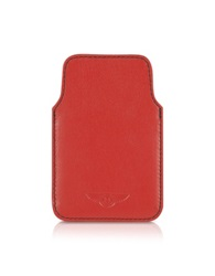 Bentley Ettinger Leather Iphone Case Red