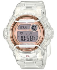 Baby G Women's Digital Clear Resin Strap Watch 45X42mm Bg169g 7B White