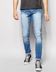 Loyalty And Faith Skinny Stretch Jean Light Bleach Wash Blue