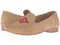 Soludos Loafer Embroidered Stone Suede Women's Slip On Shoes Gray