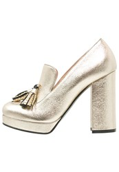 Pinko Visione High Heels Oro Gold