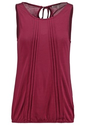 Anna Field Top Burgundy Bordeaux