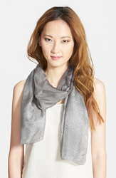 Print Silk Scarf Online Only Stone