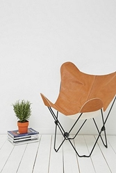 Leather Butterfly Chair Cover In Tan Urban Outfitters