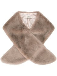 Urbancode Synthetic Fur Scarf Nude And Neutrals