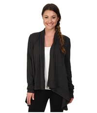 Alo Yoga Peak Cardigan Charcoal Heather Women's Sweater Gray