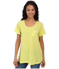 Woolrich Fork In The Road Tunic Tee Lemongrass Women's T Shirt Yellow