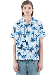 Ss16 Saint Laurent Short Sleeved Surfer Shirt Blue