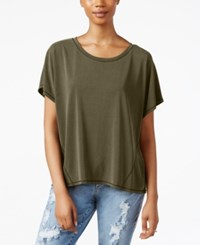 Rachel Rachel Roy Split Back T Shirt Army