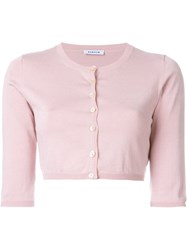 P.A.R.O.S.H. 'Sybil' Cropped Cardigan Pink And Purple