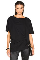 Ann Demeulemeester Short Sleeve Baggy Top In Black