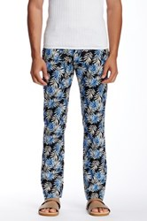 Parke And Ronen Palm Print Trouser Blue