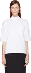 Hyke White Mock Neck T Shirt