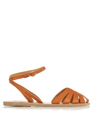 Ancient Greek Sandals Aella Cut Out Leather Sandals Tan