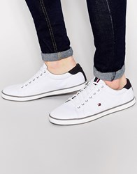 Tommy Hilfiger Harlow Lace Up Plimsolls White