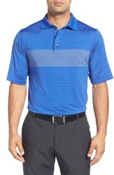 Bobby Jones Men's 'Xh20 Fusion' Stripe Jersey Polo Marina Blue