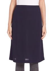 A Detacher Savia Silk Skirt Navy