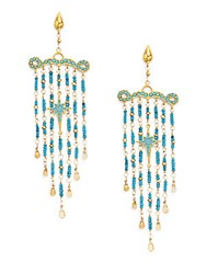 Azaara Romantic Multi Stone Chandelier Earrings Turquoise
