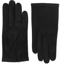 Berluti Nubuck Gloves Black