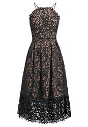 Warehouse Cocktail Dress Party Dress Black Nude