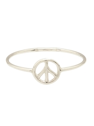 Aurelie Bidermann Thin Peace Ring Metallic