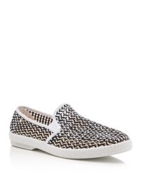 Rivieras Lord Noir Open Weave Slip On Sneakers Black