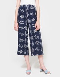 Farrow Fern Leaf Wide Pants Navy