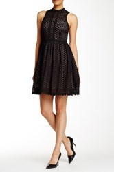 Orla Kiely Crew Neck Eyelet Dress Black
