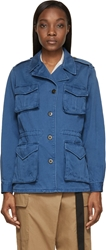 Marc By Marc Jacobs Blue Faded Cotton Twill Jacket