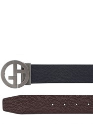 Giorgio Armani 40Mm Reversible Hammered Leather Belt