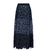 Elie Tahari Tayla Lace Skirt Female Dark Blue