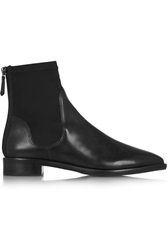 Tory Burch Newton Leather And Elastic Ankle Boots