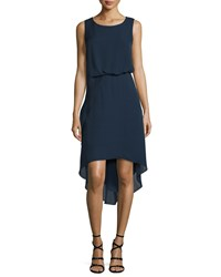 Kobi Halperin Hailey Sleeveless Tucked Waist High Low Dress Women's Midnight Blue