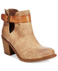 Roxy Laurel Cutout Ankle Booties Women's Shoes Tan