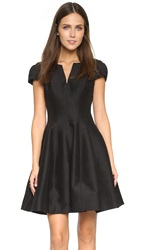 Halston Notch Neck Tulip Dress Black