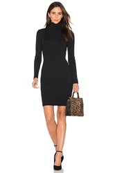 Egrey Turtleneck Sweater Dress Black