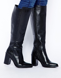 Faith Melbourne Knee High Heeled Boots Black