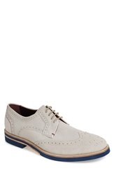 Ted Baker 'Archerr' Suede Wingtip Men White Suede
