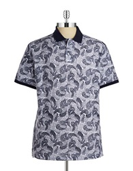 Hudson North Patterned Polo Snow White