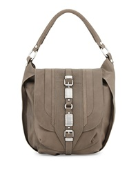 Ash Dree Embellished Buckle Messenger Bag Gray