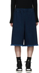 Marques Almeida Indigo Denim Tracksuit Shorts