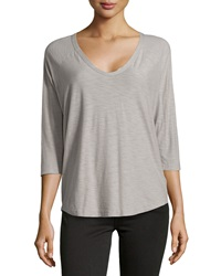 James Perse Jersey Baseball Style Tee Shadow