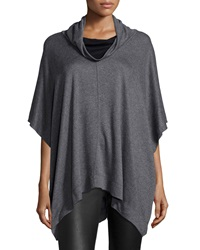 Three Dots Funnel Neck Jersey Poncho