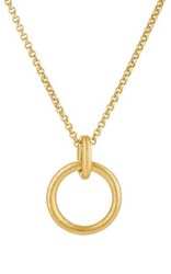 Linda Lee Johnson Women's Athena Pendant Necklace Gold