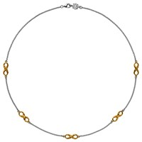 Dower And Hall 18Ct Gold Vermeil Infinity Necklace Silver Gold