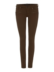 Maison Scotch La Parisienne La Luna Zip Detail Skinny Jean Green